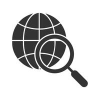 Icône de glyphe de recherche Internet vecteur
