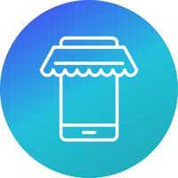 Vektor Online-Shopping-Symbol