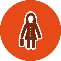 Women With Briefcase Vector Icon