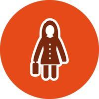 Women With Briefcase Vector Icon