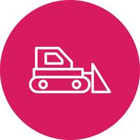 Bulldozer Vector Icon