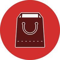 Icône de sac à provisions de vecteur