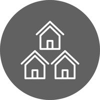Icono de vector de barrio