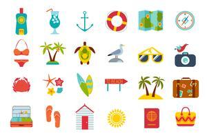 Conjunto de iconos de verano.