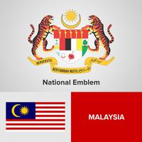 Emblema Nacional, Mapa y Bandera