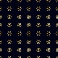 Gold flower seamless pattern. vector