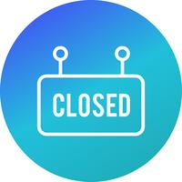 Vektor Closed Sign Icon