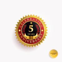 Years Anniversary Gold Badge vector