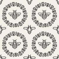 Modello senza cuciture con ape