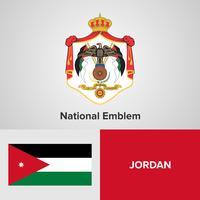 National Emblem, Map and flag  vector