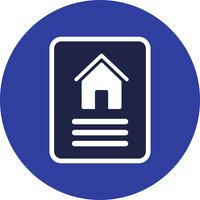 Haus Dokument Vektor Icon