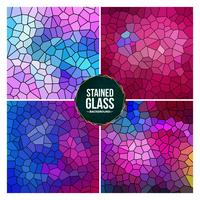 Multicolor Broken Stained Glass Background Set