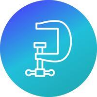 Schraubstock-Vektor-Symbol