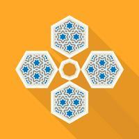 Ramadan Kareem voeux fond islamique avec motif arabe
