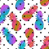 Piña creativa moda de patrones sin fisuras