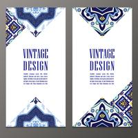 Portuguese tiles Banner for business,  invitation  card