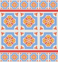 Portuguese azulejo tiles. Blue and white gorgeous seamless patte.