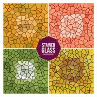 Multicolor Broken Stained Glass Background Set vector