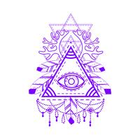 All-seeing eye pyramid-symbool.