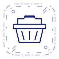 Vector icono de cesta