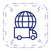 Vektor Global Delivery Icon