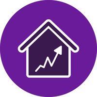 Grafiek huis vector pictogram