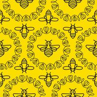 Seamless pattern with Bee
