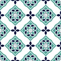 Azulejos de azulejo portugués. Modelos inconsútiles magníficos azules y blancos.