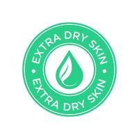 Extra dry skin icon vector