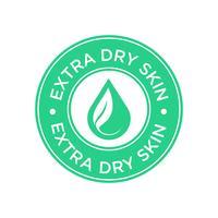 Extra dry skin icon