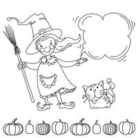 Cute witch. Banner for your design vector
