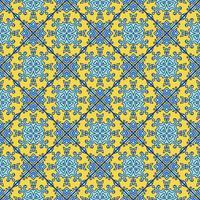 Portuguese azulejo tiles. Blue and white gorgeous seamless patte