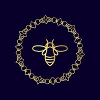 insect Badge Bee for corporate identity