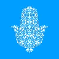 Laser cutting template  Hamsa