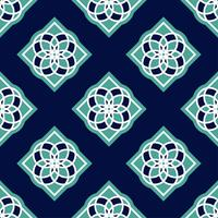 Portuguese azulejo tiles. Blue and white gorgeous seamless patterns.
