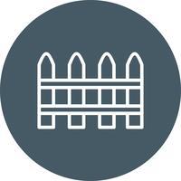 Icône de vecteur de clôture