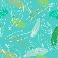 seamless pattern with raven s feathers. pastel color