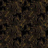 Gold seamless Fashion patterns.