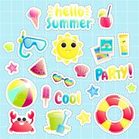"""Hallo zomer"" Set schattige offshore-objecten"