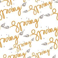 Seamless pattern spring vector