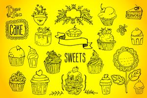tea and sweets - doodles collection