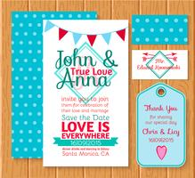 Wedding invitation save the date cards