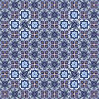 Azulejos de azulejo portugués. Azul y blanco hermosa patte inconsútil