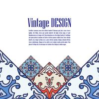 Banner azulejos in Portuguese tiles style  for business.