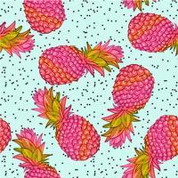 Kreatives modisches nahtloses Muster der Ananas