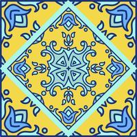 Azulejos portugueses. Patte sem costura lindo azul e branco