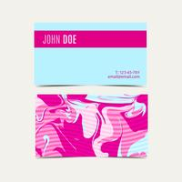 Pink business cards with a shabby chic vector