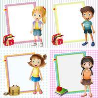 Rahmenvorlage mit glücklichen Kindern