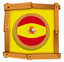 Spanien Flagge auf Runde Abzeichen