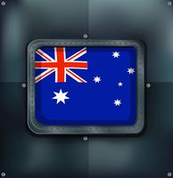 Australia flag on metalic background